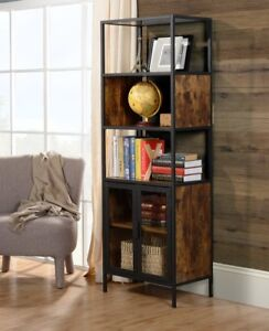 BIBLIOTHEQUE Ivy Bronx Nena Metal and Wood Display NEUF NEW