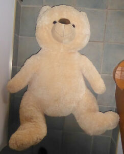 Huge stuffed teddy bear in good, clean condition, 4 ft tall