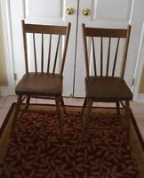 ~Antique Presback wood chairs ~