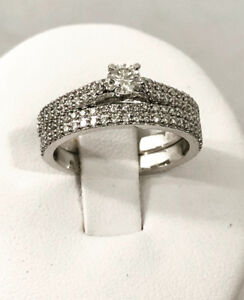 14k white gold diamond engagement ring ^Comes Appraised - $3,400
