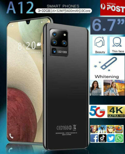 """Android Phone - 2021 AUS New A12 6.7""""Smart phone Android 10.0 10-Core 5600 mah 3GB+32GB MTK6799"""