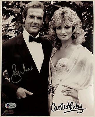 Roger Moore   Carole Ashby Signed 8X10 James Bond 007 Photo  2 Beckett Bas Coa