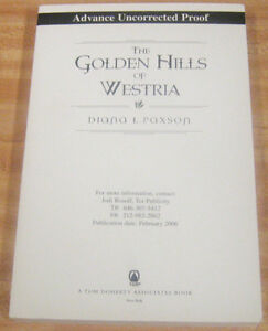 The Golden Hills of Westria by Diana L Paxson (2006) ARC TPB