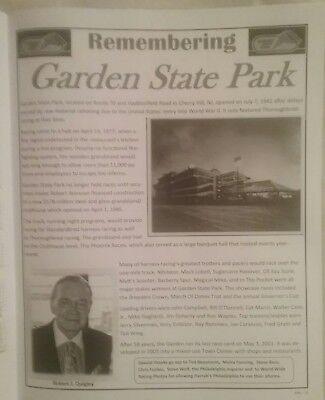 RARE! Garden State Park Racetrack 2017 Commemorative Program - Harness Racing for sale  Oaklyn