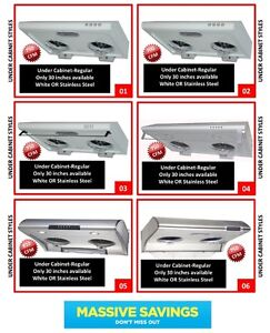600 cfm to 1000 cfm Range Hoods All types available. SALE!!!