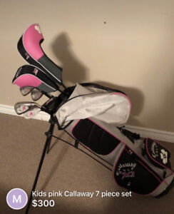 Girls Pink Callaway Golf set (7 piece)