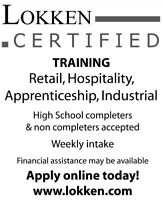 Career Training (Financial Support may be available)