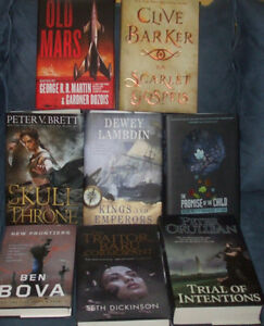 SCIENCE-FICTION, FANTASY, HORROR HARD COVERS ALL $5 EACH NEW
