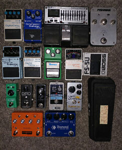 Assorted Used Guitar Effects