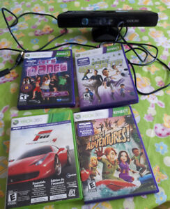 Kinect for XBOX 360 with 4 games, XBOX360 games 4, 2PS2 games