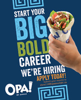 OPA! is hiring Full-time and Part-time positions