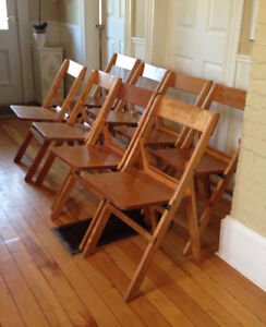 Solid Wood Folding Chairs, great for outdoor Wedding