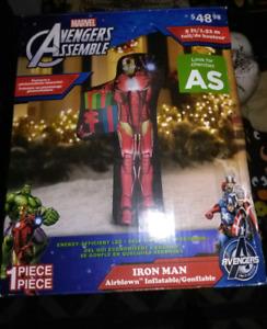 Iron man Christmas inflatable