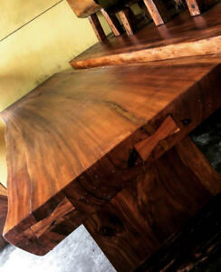 Live Edge Suar Acacia Dining Table JULY MOVE-IN