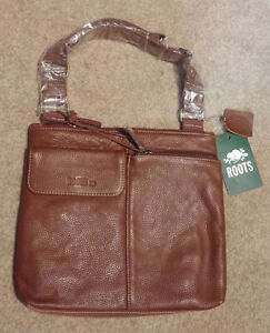 Roots Leather Crossbody Purse (Brand New)