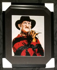 Freddy Krueger Signed Photo Framed w/COA