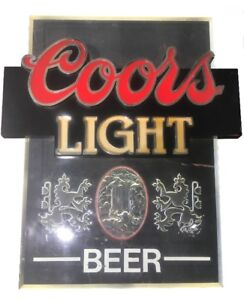 Vintage COORS LIGHT BEER  Lighted Sign