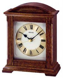 Seiko Wooden Mantel Clock QXG123B NEW