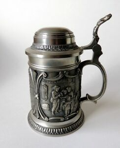 Selection of Real German Tin Tankards and Cups