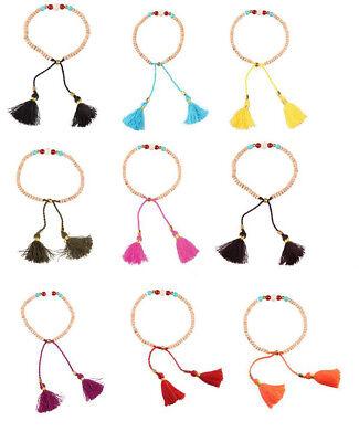 Bohemia Tassels Friendship Bracelet Handmade Beaded Charm Bangles New - Friendship Charm Bracelets