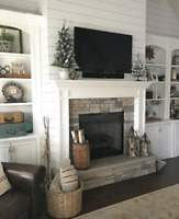 Stone Fireplace Installation by Experienced Mason