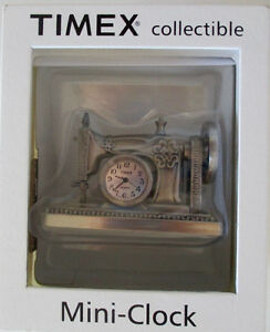 Timex Collectible Sewing Machine Clock