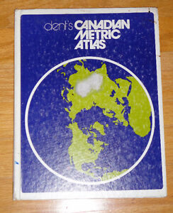 Dent's Canadian Metric Atlas Hardcover book Good condition