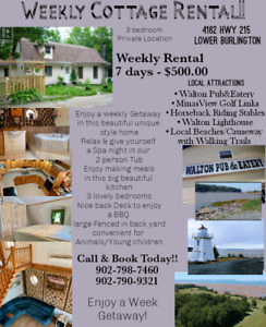 Great Price!! Weekly Cottage Rental!!