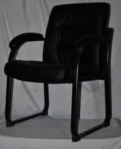 Bonded Black Leather Guest Chair