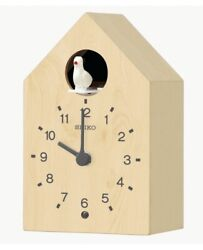 Seiko Wooden Cuckoo Wall Clock QXH070A NEW