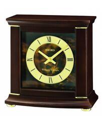 Seiko Wooden Mantle Clock QXJ030B NEW