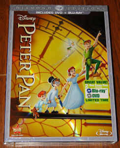 Disney's Peter Pan Blu ray and DVD $30