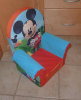 Cute Mickey Mouse foam chair in very good condition