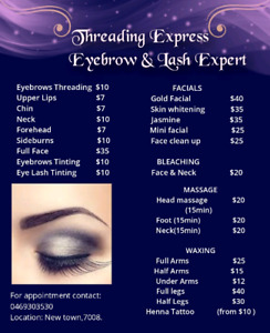 eyebrow threading in Hobart Region, TAS | Beauty Treatments
