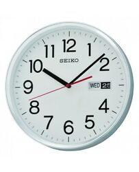 Seiko Wall Clock with Day & Date QXF104S NEW