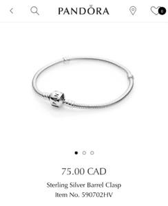 Pandora bracelet 18cm