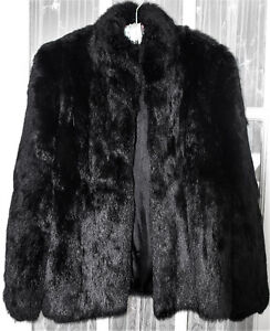 Black FUR jacket~Gorgeous like new VINTAGE a-line
