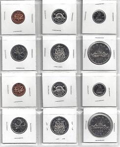 Ensembles de pièces de monnaie UNC