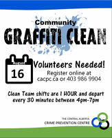 Community Graffiti Clean Seeking Volunteers