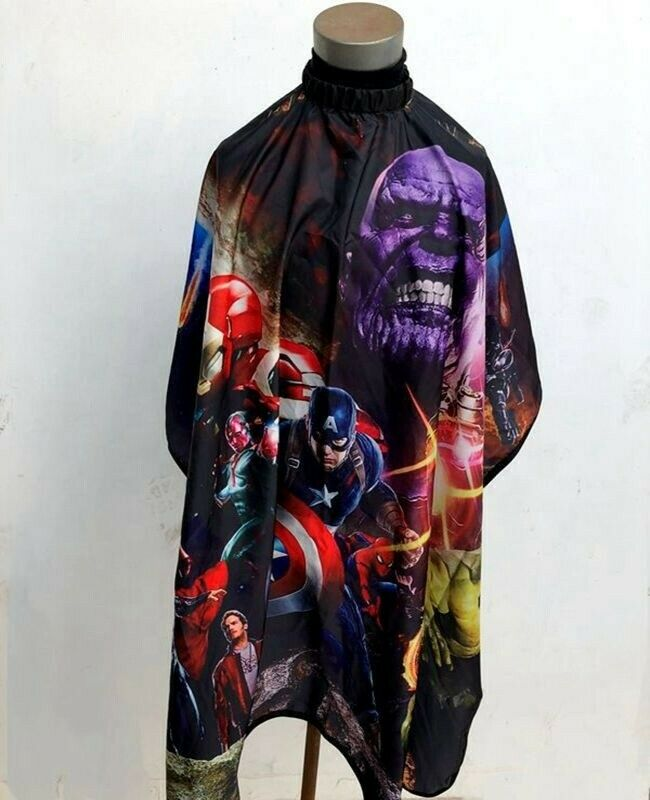 HAIR CUTTING AND STYLING BARBER CAPE FOR KIDS-SUPER HEROES