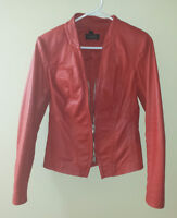 4 DANIER LEATHER JACKETS - RED, NAVY, GREEN - ALL IN EXC CONDITN