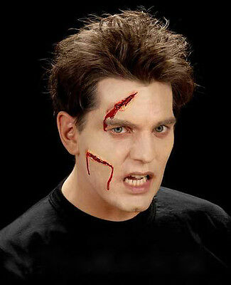 FX MAKE UP FACE WOUND CUTS LATEX SCAR APPLICATION ZOMBIE HALLOWEEN HORROR NEW - Halloween Latex Applications