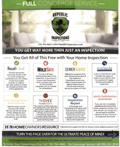 A Home Inspection that comes with amazing Warranties