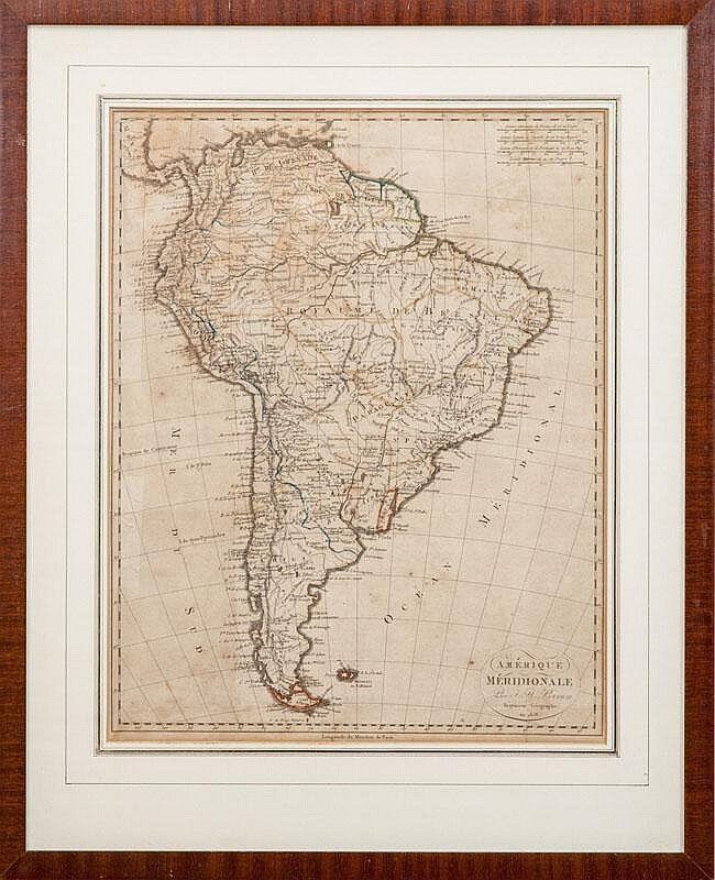 Map South America Antique