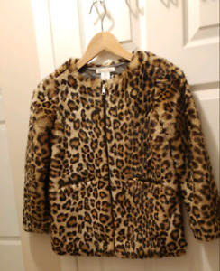Animal print girls coat