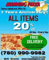 MANNING PIZZA - 20% OFF!!!