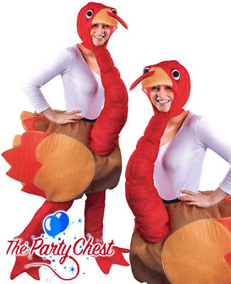 STEP IN CHRISTMAS TURKEY COSTUME Funny Animal Thanksgiving Fancy Dress Outfit