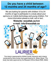 Parents of Children 12 to 24 Months Needed for Mobile Tech Study