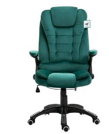 Recline Extra Padded Office Chair Standard, Green Velvet