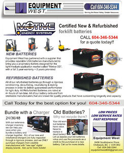 ☆ FORKLIFT BATTERIES ☆ RECONDITIONED & NEW ☆ BEST PRICES